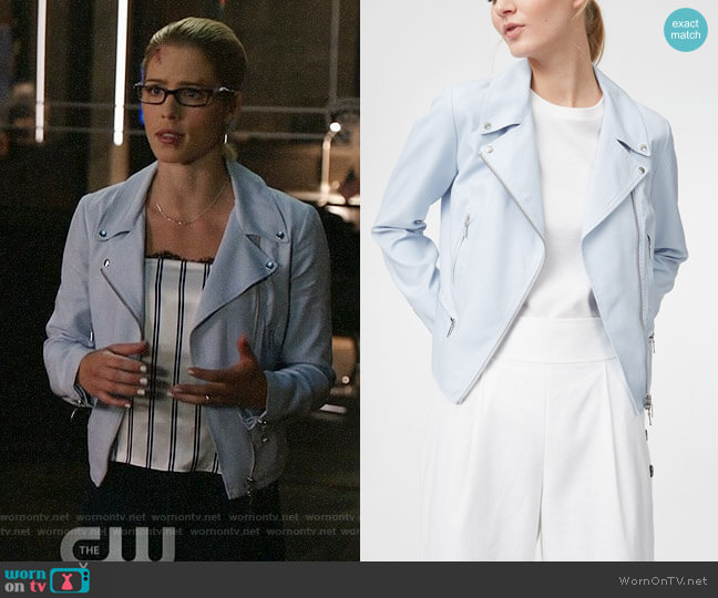 Club Monaco Kapri Jacket worn by Felicity Smoak (Emily Bett Rickards) on Arrow