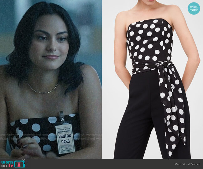 Club Monaco Konstance Jumpsuit worn by Veronica Lodge (Camila Mendes) on Riverdale