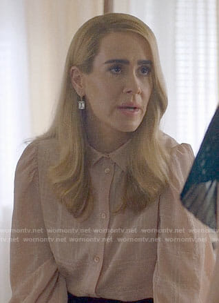 Cordelia's pink plaid blouse on American Horror Story Apocalypse