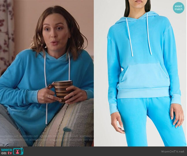 Aspen cotton-jersey hoody by Cotton Citizen worn by Angie (Leighton Meester) on Single Parents
