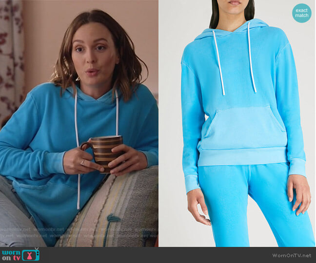 Aspen cotton-jersey hoody by Cotton Citizen worn by Leighton Meester on Single Parents