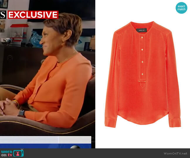 Silk Blouse by Derek Lam worn by Robin Roberts (Robin Roberts) on Good Morning America