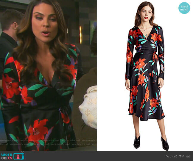 Woven Wrap Dress by Diane von Furstenberg worn by Nadia Bjorlin on Days of our Lives