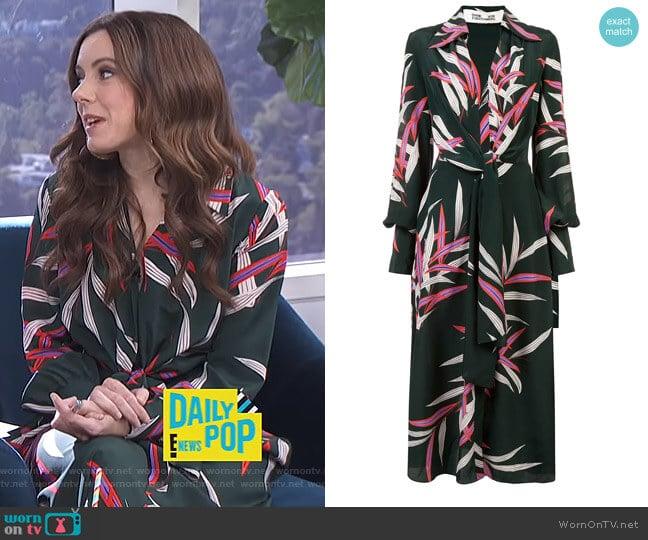 Plunge Front Wrap Dress by Diane von Furstenberg worn by Melanie Bromley  on E! News