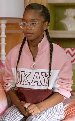 Diane's OKAY sweatshirt on Black-ish