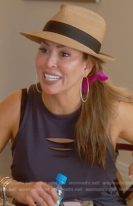 Kelly's cut out tank top on The Real Housewives of Orange County
