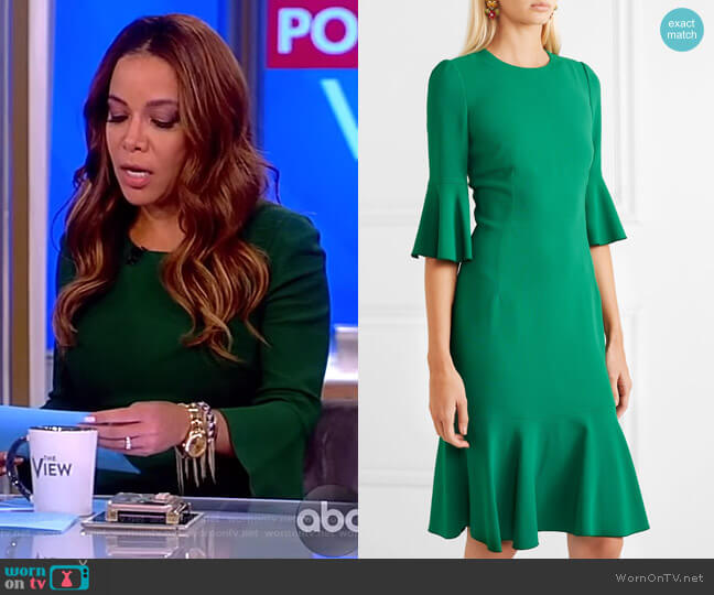 Ruffled cady dress by Dolce & Gabbana worn by Sunny Hostin  on The View