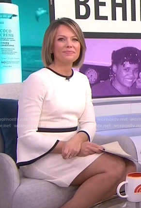 Dylan's white bell sleeve dress on Today