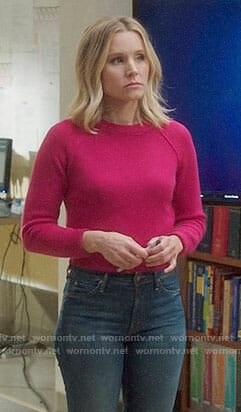 Eleanor's pink sweater on The Good Place