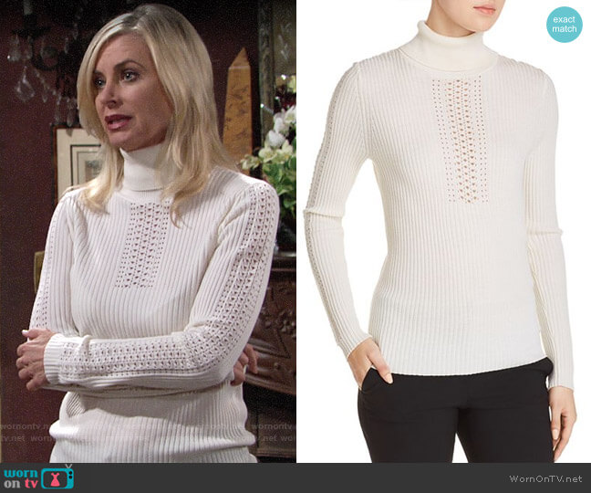 Elie Tahari Maelee Sweater worn by Eileen Davidson on The Young & the Restless