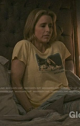 Elizabeth's yellow Frampton tee on Madam Secretary