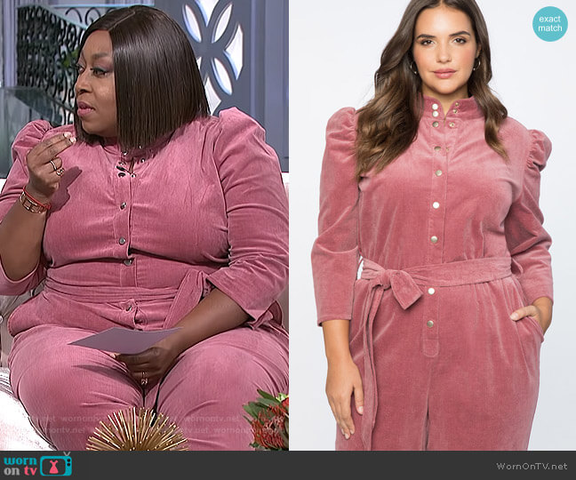 Puff Sleeve Jumpsuit by Eloquii worn by Loni Love on The Real