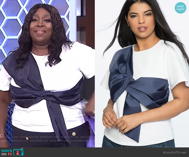 Tie Bodice Tee by Eloquii worn by Loni Love on The Real