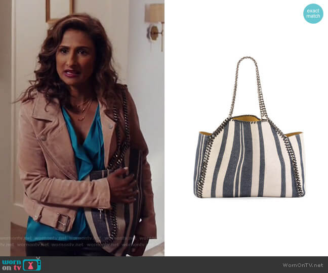 Falabella Reversible Tote Bag by Stella McCartney worn by Sarayu Blue on I Feel Bad