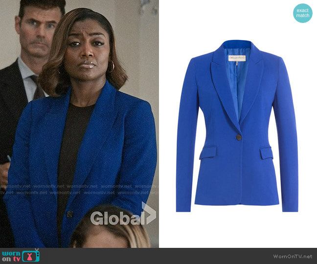 Emilio Pucci Crepe Blazer worn by Patina Miller on Madam Secretary