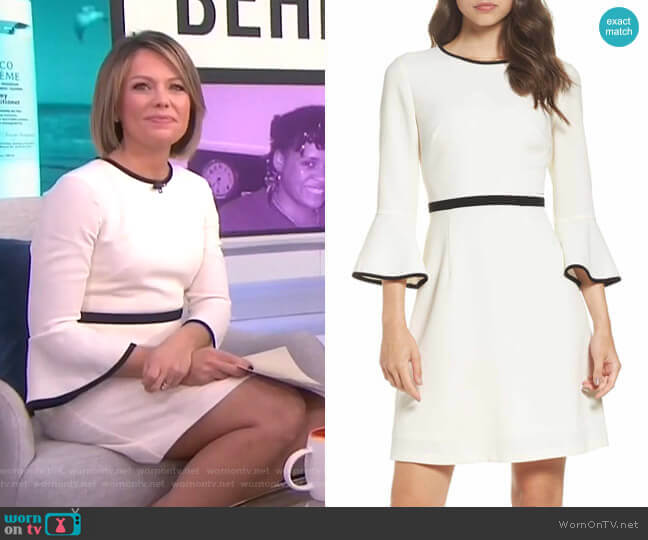 Fit & Flare Dress by Eliza J worn by Dylan Dreyer (Dylan Dreyer) on Today
