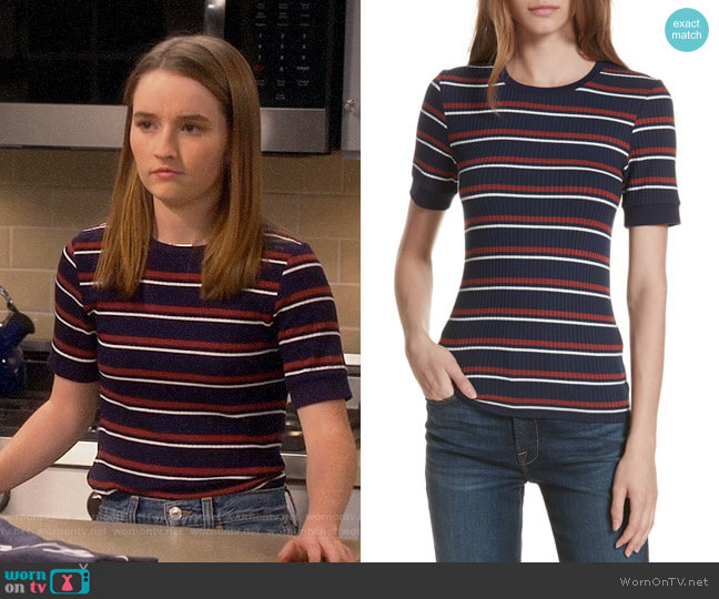 Eve's striped top on Last Man Standing