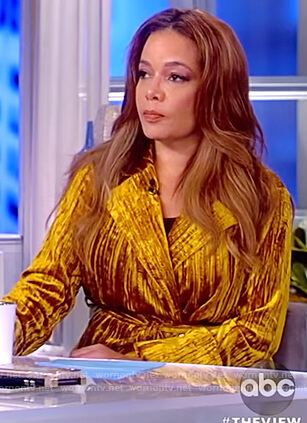 Sunny's gold velvet blazer on The View