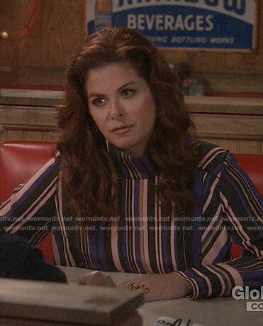 Grace's striped blouse on Will and Grace