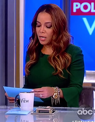 Sunny's green bell sleeve midi dress on The View