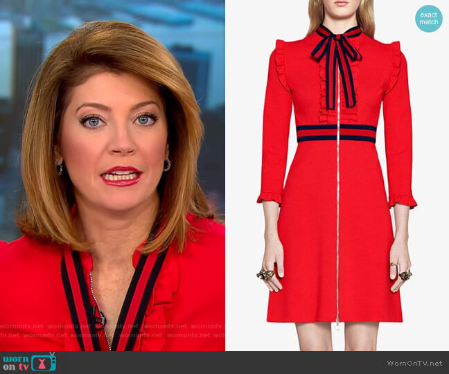 Viscose Jersey Dress by Gucci worn by Norah O'Donnell on CBS This Morning