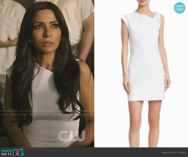 Helmut Lang Twist Tank Dress worn by Hermione Lodge (Marisol Nichols) on  Riverdale 2b48000b8