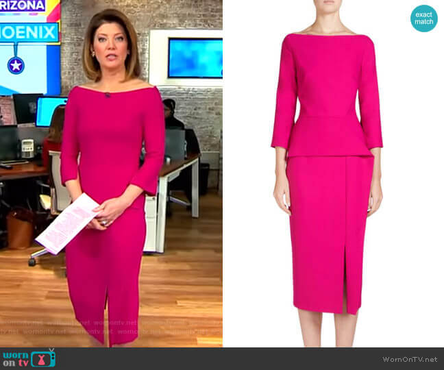 Ardingly Dress by Roland Mouret worn by Norah O'Donnell  on CBS This Morning