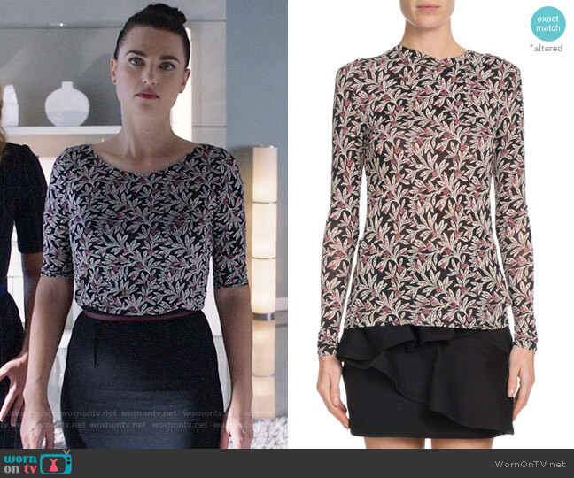 Etoile Isabel Marant Trend Floral Print Top worn by Lena Luthor (Katie McGrath) on Supergirl