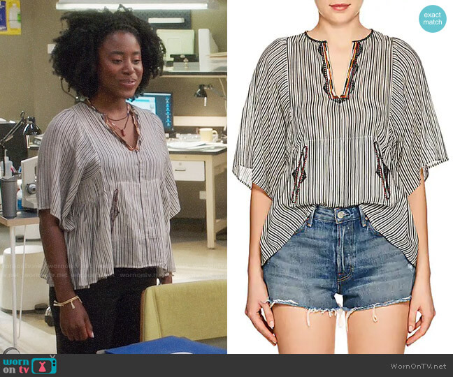 Isabel Marant Etoile Joy Top worn by Simone Garnett (Kirby Howell-Baptiste) on The Good Place