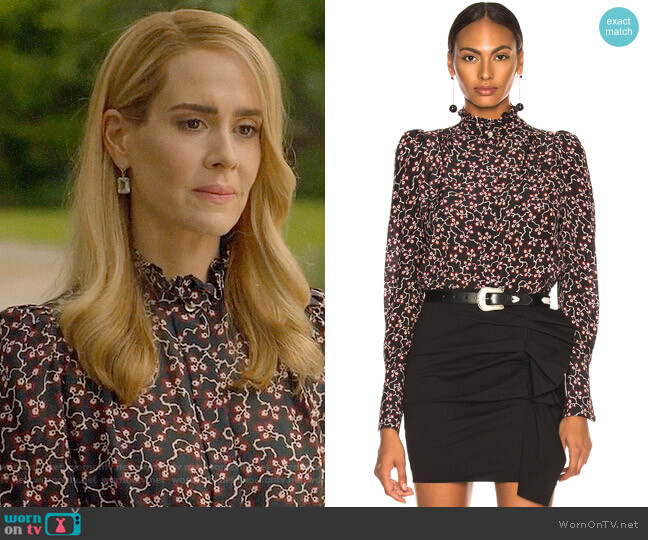 Isabel Marant Lamia Top worn by Sarah Paulson on American Horror Story