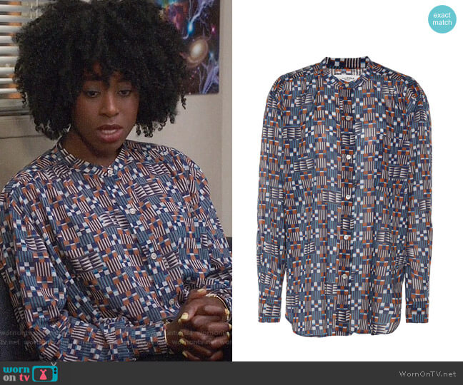 Isabel Marant Etoile Nahla Blouse worn by Kirby Howell-Baptiste on The Good Place