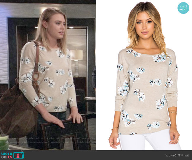 Joie Eloisa Sweater worn by Hayley Erin on General Hospital