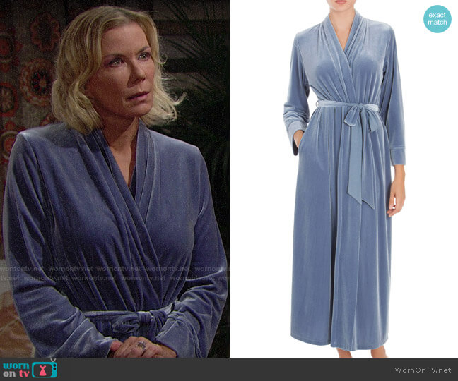 Jonquil Velvet Robe worn by Brooke Logan (Katherine Kelly Lang) on The Bold & the Beautiful