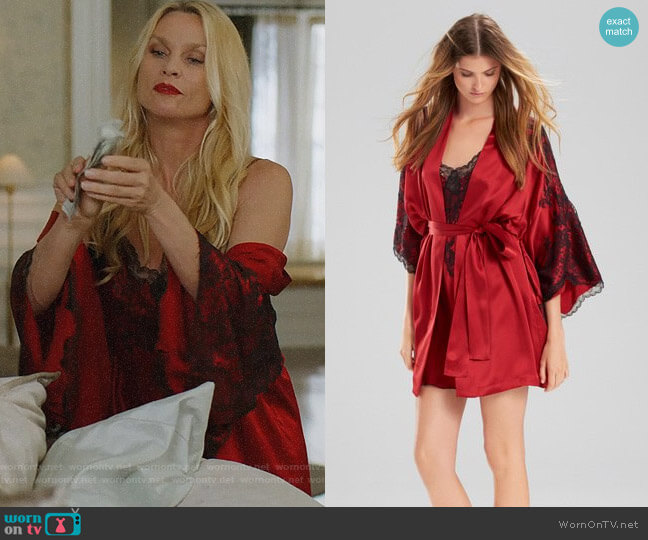 Josie Natori Camilla Kimono Wrap worn by Alexis Carrington (Nicollette Sheridan) on Dynasty