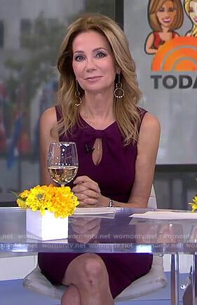 Kathie's purple keyhole dress on Today