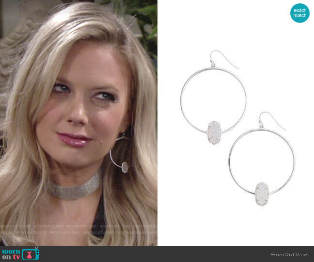 Kendra Scott Elora Earrings worn by Melissa Ordway on The Young & the Restless