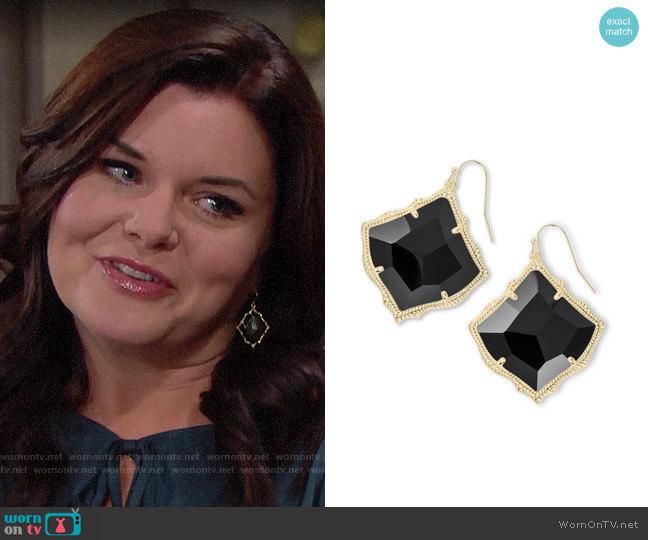 Kendra Scott Kirsten Earrings worn by Katie Logan (Heather Tom) on The Bold & the Beautiful