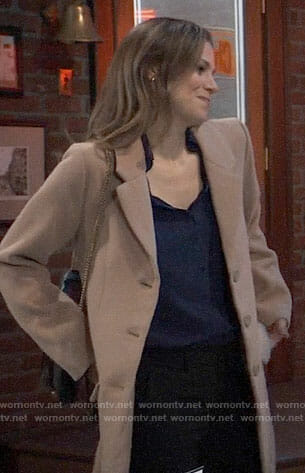 Kim's camel coat on General Hospital