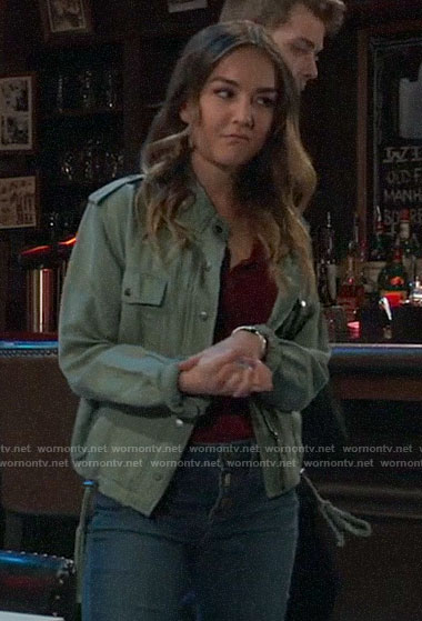 Kristina's army jacket on General Hospital