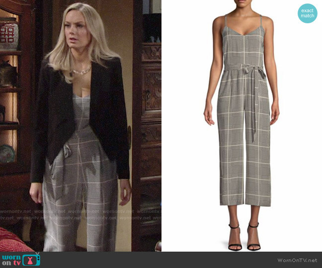 L'Agence Jaelyn Jumpsuit worn by Abby Newman (Melissa Ordway) on The Young & the Restless