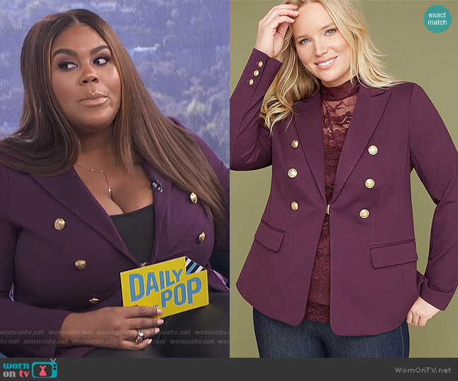 Bryant Blazer by Lane Bryant worn by Nina Parker on E! News