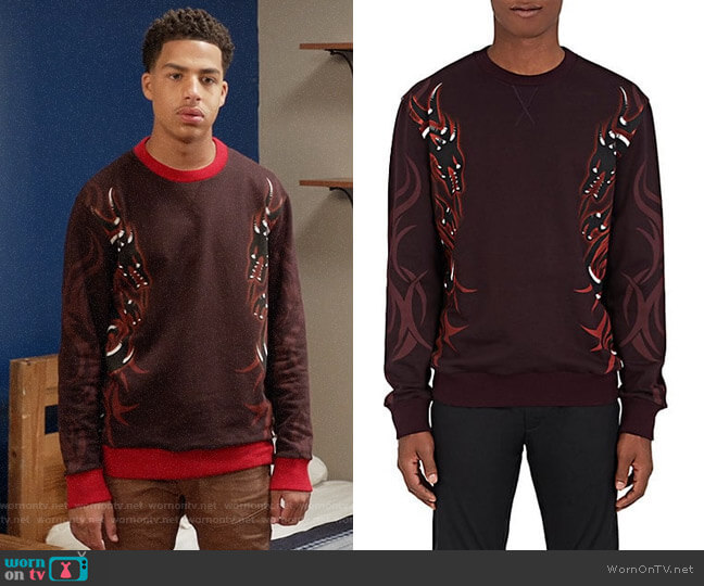 Lanvin Dragon Tribal Sweatshirt worn by Marcus Scribner on Blackish