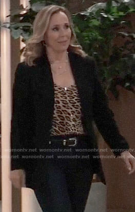 Laura's leopard print top on General Hospital