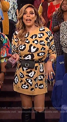 Wendy's leopard sweater dress on The Wendy Williams Show