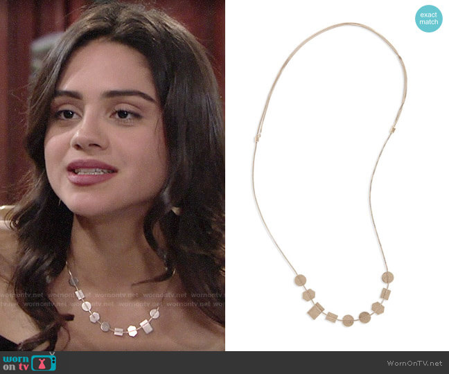 Madewell Holding Pattern Necklace worn by Lola Rosales (Sasha Calle) on The Young & the Restless