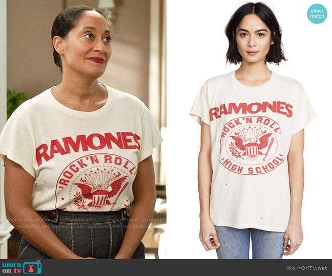 Madeworn Ramones Tee worn by Tracee Ellis Ross on Blackish