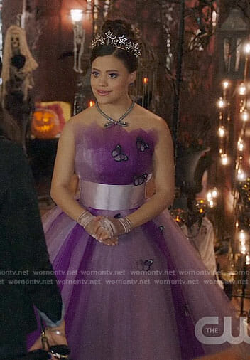 Maggie's purple Halloween costume on Charmed