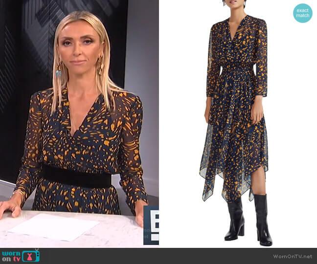 Rayem Dress by Maje worn by Giuliana Rancic  on E! News