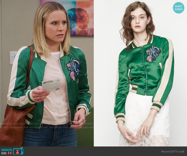 Maje Bacary Jacket worn by Eleanor Shellstrop (Kristen Bell) on The Good Place