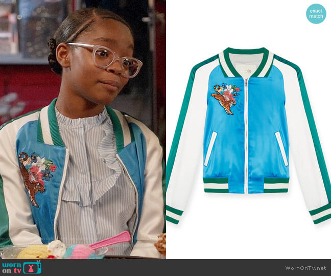 Maje Bianca Jacket worn by Marsai Martin on Blackish